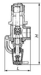 Клапан незамерзающий- типа КДН 50-25 (ХЛ)- для спуска нефтепродуктов.