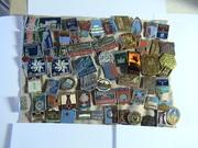продам значки города, пермь, кпсс, ленин, олимпиада-80, разное -149шт=3445р