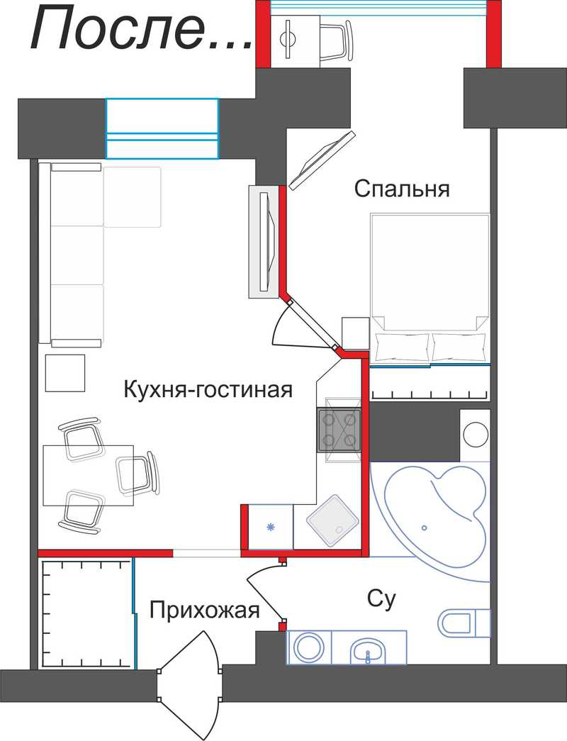 Дизайн 2-комнатной квартиры П-111М