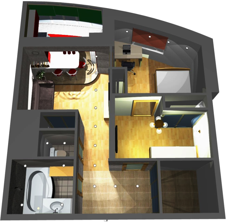 Малогабаритная 1 комнатная квартира дизайн