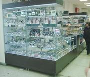 Торговое оборудование,  витрины,  прилавки,  стеллажи на заказ
