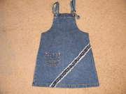 Продается джинсовый сарафан на девочку,  размер 34