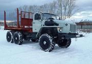 Лесовоз Урал 43204 с площадкой