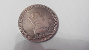 Пермь. Монета 1 рубль 1747 г,  серебро,  Елизавета 1. ММД