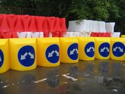 Барьеры и тумбы дорожные  водоналивные пластиковые бу