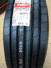 385/65R22.5 Kumho KRS04  160K Рулевая ось