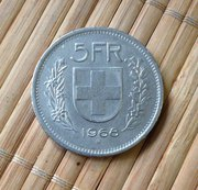 Продам монету 5 франков 1968 г