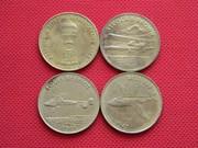 Монетовидные жетоны на тему Авиация.