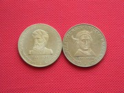 Памятные монетовидные жетоны серии Первооткрыватели.