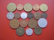 Продам зарубежные монеты.
